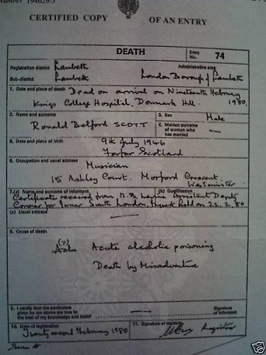 Bon scott death certificate by bilateral, via Flickr