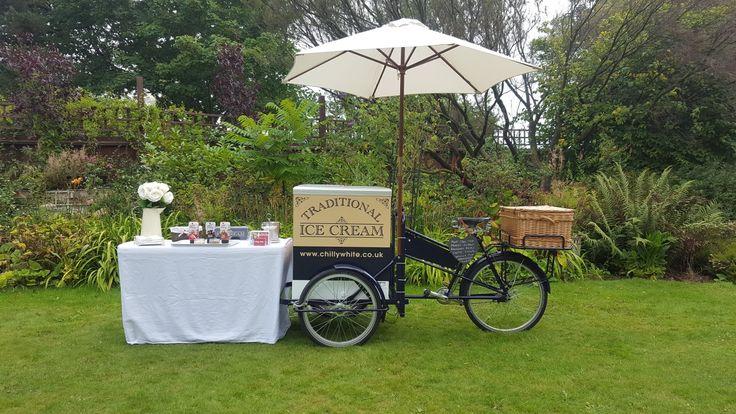 Ice cream tricycle trike bicycle bike cart kart van stand hire Hampshire Southampton Newforest
