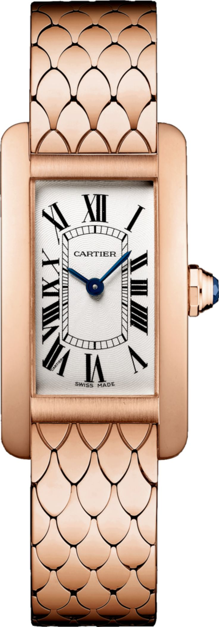 #Cartier Tank Americaine Pink (Rose) Gold #Watch