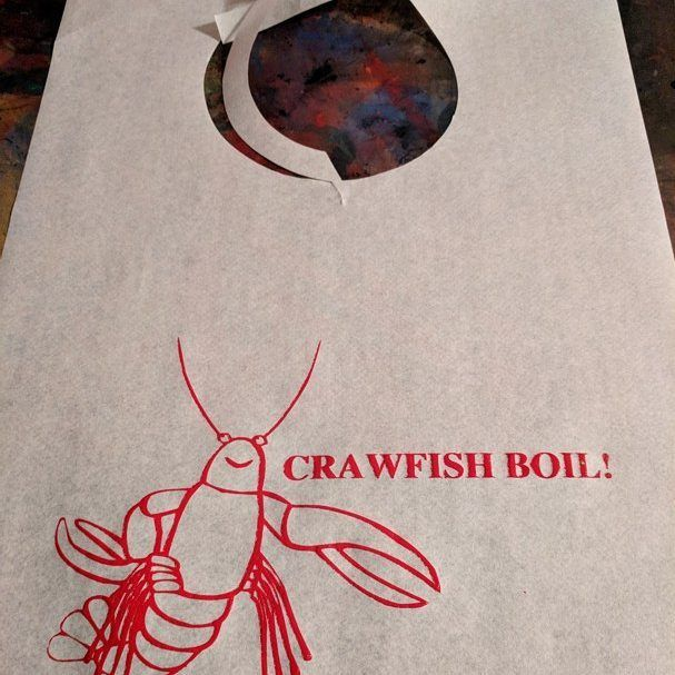 Getting ready for your Crawfish Boil? Make sure you order bibs! Stock design imprint and custom available. #partybibs #crawfishboil #crawdaddy #crayfish #weddings