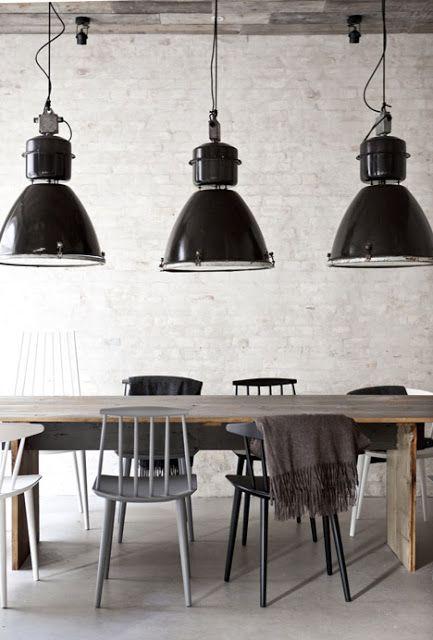 mooie industriele lampen!