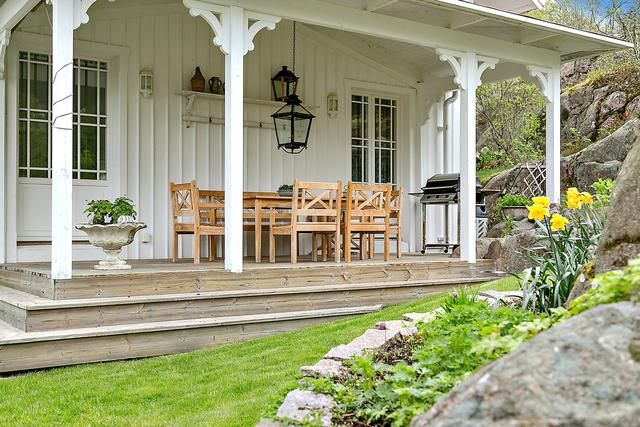 Amerikansk veranda med söderläge