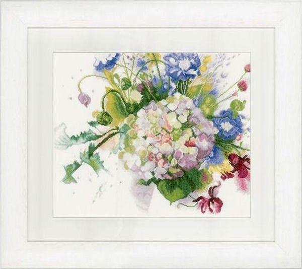 Bos bloemen met hortensia - Bouquet with hydrangea : Lanarte - De Spinnerij