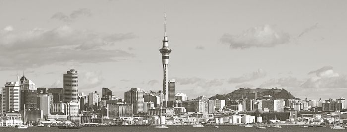 Panorama of Auckland City..