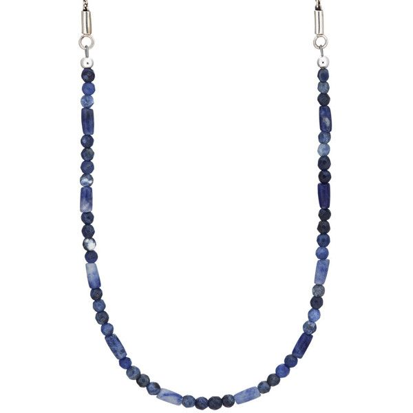 Caputo & Co Men's Sodalite Beaded Necklace (7,050 THB) ❤ liked on Polyvore featuring men's fashion, men's jewelry, men's necklaces, blue, mens chain necklace, mens chains, mens necklaces, mens beaded necklaces and mens watches jewelry