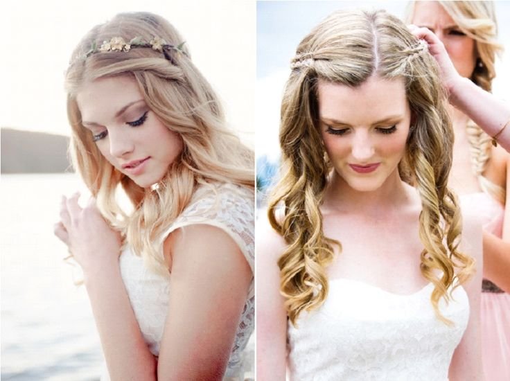 coiffure de marie 10 ides avec les cheveux lchs - Coiffure Mariage Cheveux Mi Long Lachs