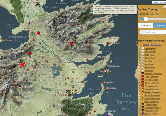'Game of Thrones' meets Google in interactive map of Westeros - The Margin - MarketWatch