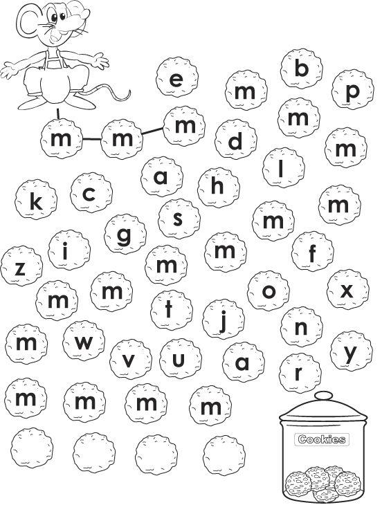 Werkblad letters: muis