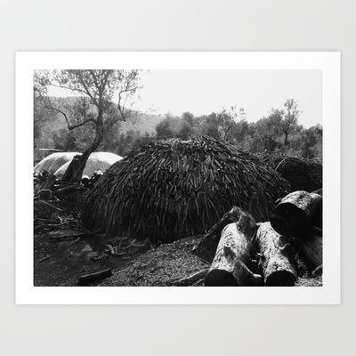 Charcoal Kiln Art Print by Sandra Triantafyllou - $18.00