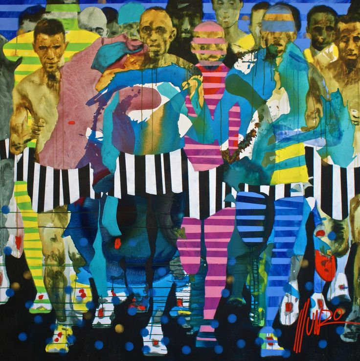 """""""lay aside every weight"""" by South African artist Munro, from his Ye Are Strong Collection 2016. 200 x 200 x 5 cm #Munro www.munromunromunro.com"""