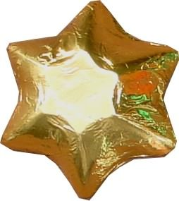 A 1kg bag of Foiled Chocolate Stars Gold.