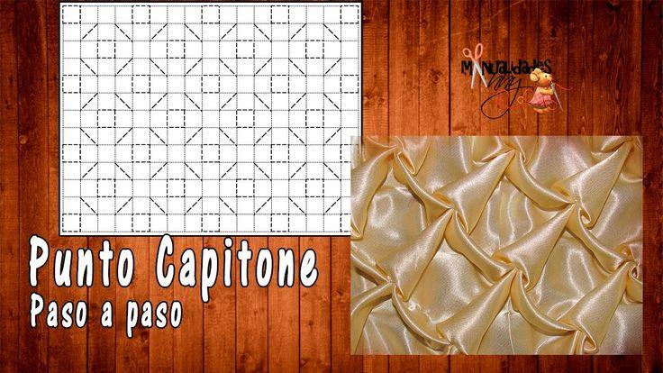 CLASE XIII - PUNTO CAPITONE | Manualidades Anny
