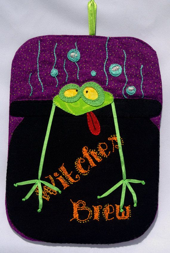 Witches Brew Mug Rug by QuiltinCats on Etsy, $10.50