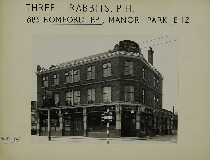 https://flic.kr/p/xgtqjU | Three Rabbits 883 Romford Road Manor Park 001a (front of scan) | 883 Romford Road, Manor Park, E12