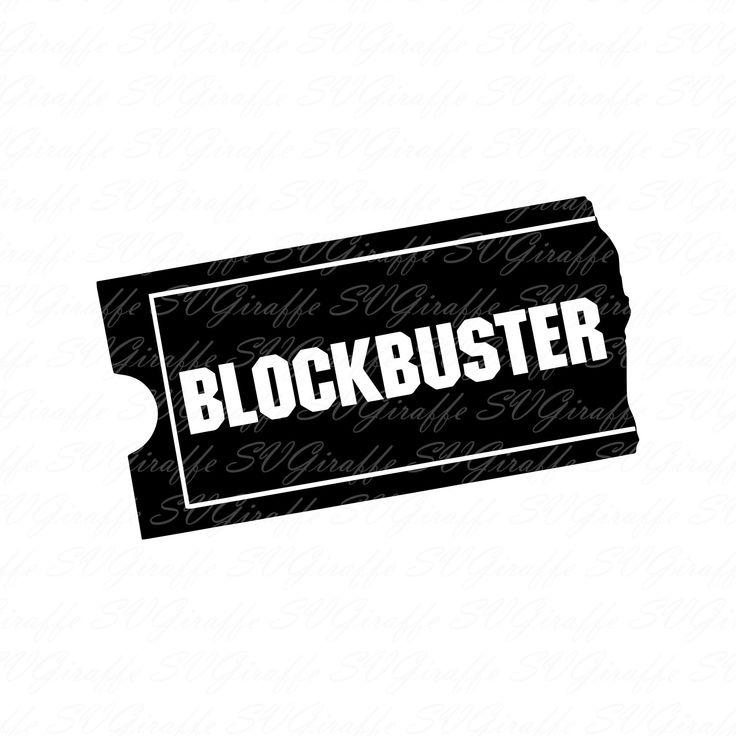 Blockbuster video logo svg dxf png pdf jpg eps files