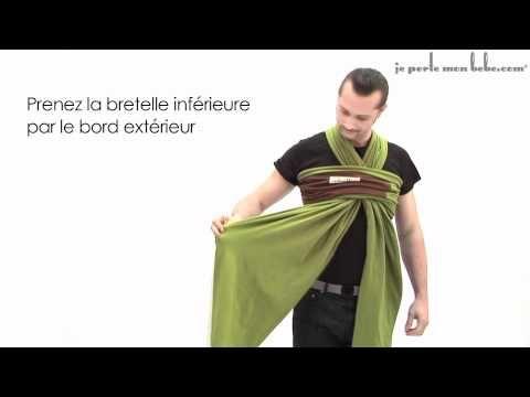 Porte-bébé écharpe Babymoov : les différents modes de portage - YouTube