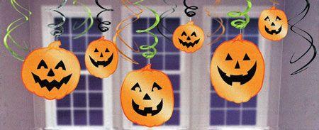 Jolly Jack-O-Lantern Ceiling Swirls | Halloween Party Decorations