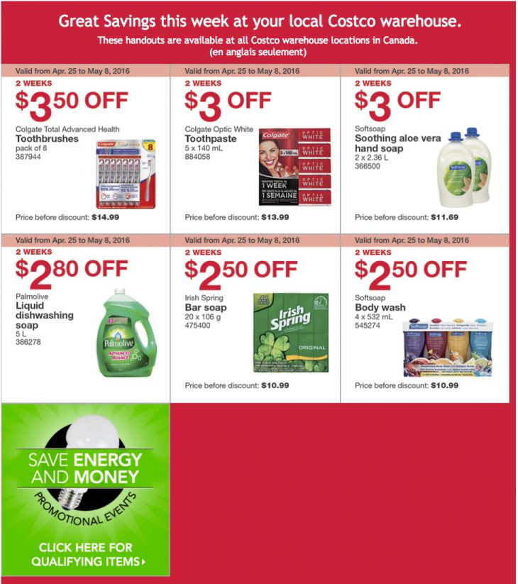 Costco Canada Weekly Instant Handouts Coupons/Flyers For All Costco Warehouse Locations In Canada From April 25... http://www.lavahotdeals.com/ca/cheap/costco-canada-weekly-instant-handouts-coupons-flyers-costco/85855