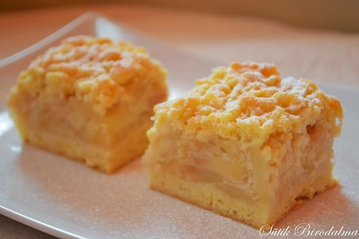 SÜTIK BIRODALMA: Borzas habos almás süti