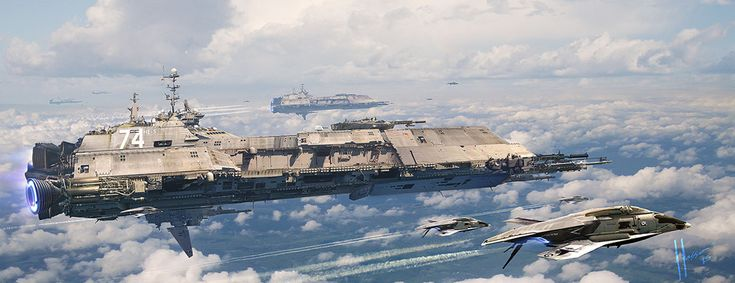 Futuristic Military Ships by Jaime Jasso - What an ART ...