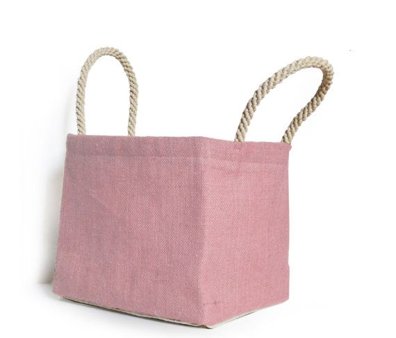Dorm Laundry Bags Dorm Decor Dorm Cubby Bin Pink by AmoreBeaute