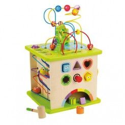 Hape Country Critters Play Cube   Wooden Activity Centre