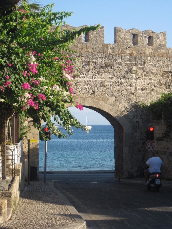 Rhodes Greece Food & Travel Diary - My Kiki Cake - Old Town wall and archway in Rhodes