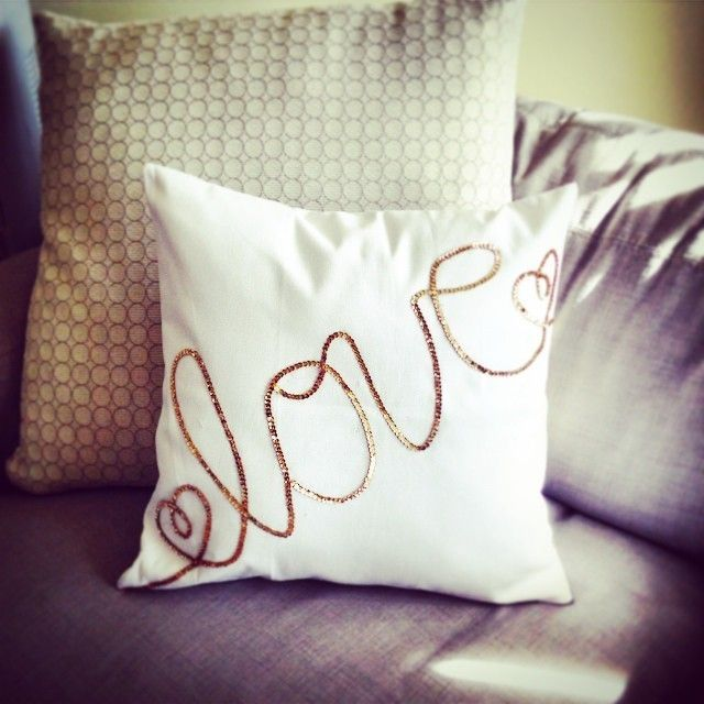 Diy Quote Throw Pillow : DIY glitter throw pillow Unboxing Videos Pinterest