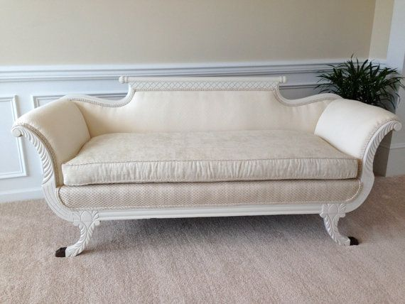 Elegant Antique Duncan Phyfe Sofa Redesigned For Modern Times By RLRaine