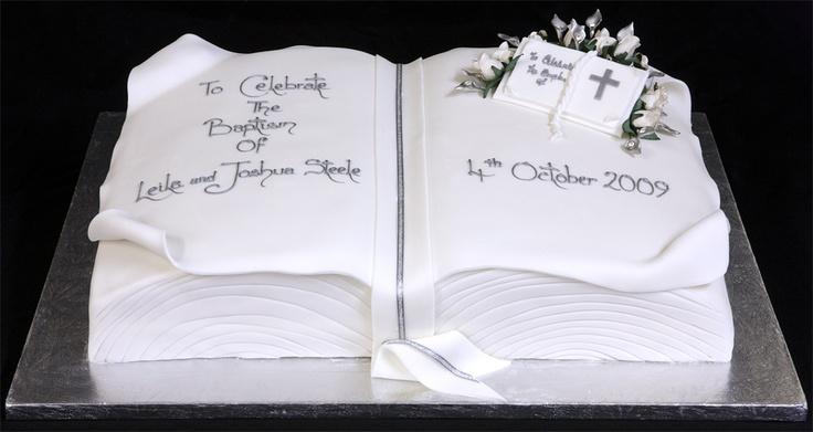 Christening Cake Book Design : Christening cake