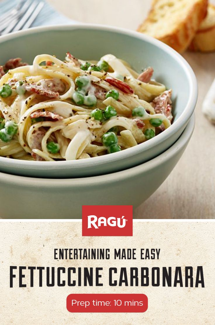 In honor of this month's National Fettuccine Alfredo Day (it's a real day!) why not whip up this twist on the traditional dish - Fettuccine Carbonara made with our own Classic Alfredo sauce.