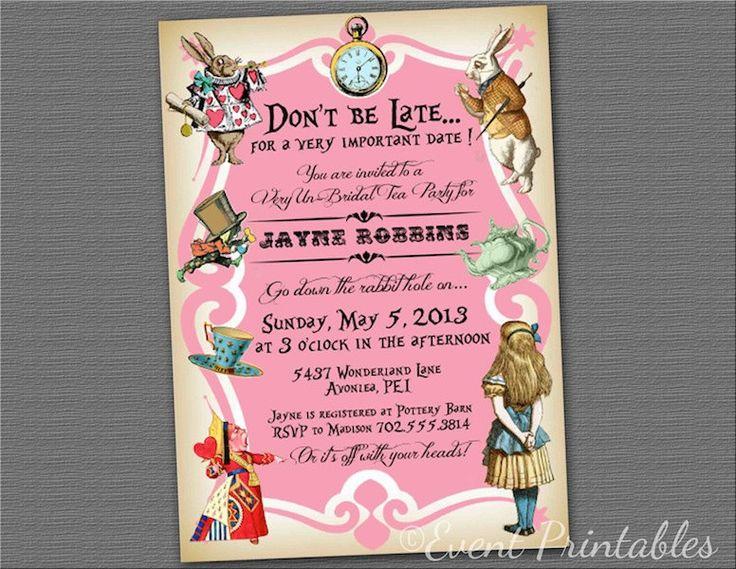 Alice+in+Wonderland+Tea+Party+Bridal+Shower+by+EventPrintables,+$18.00