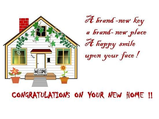 Congratulations on your new house greetings on for Enjoy your new home images