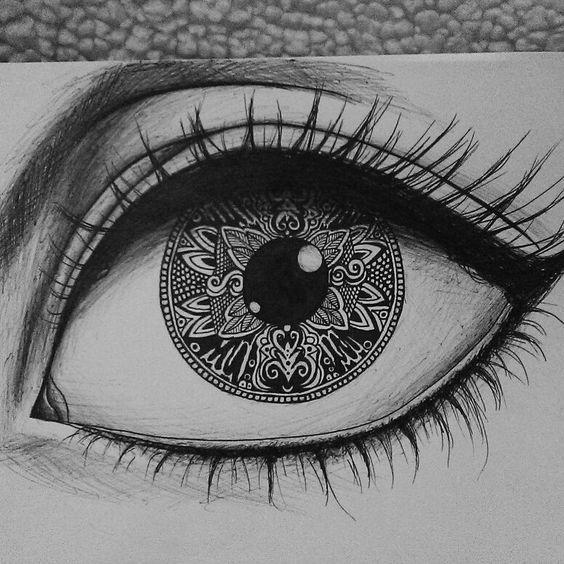 Para esta actividad usaremos carboncillos, los niños tendrán que aprender a dibujar cinco ojos con diferentes formas y tamaños (los que ellos elijan). #eyedrawings