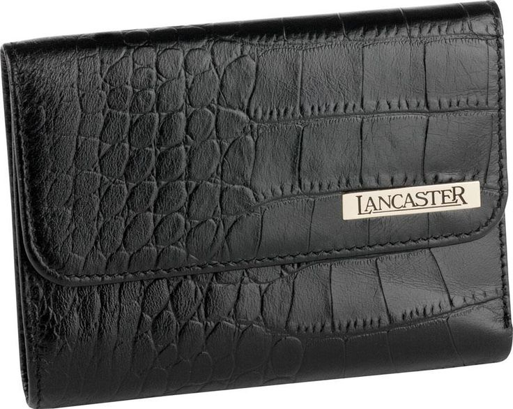 LANCASTER man small leather goods are made using genuine calf leather in ostrich embossed, three color variations (black, dark & medium brown).