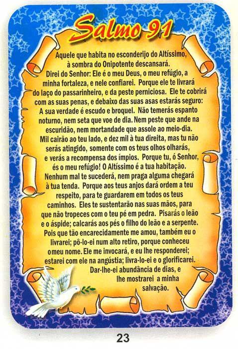 salmo 91 catolico - Google Search