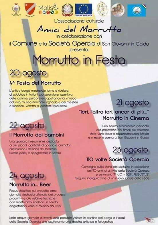 Festa del Morrutto a San Giovanni in Galdo (Campobasso) dal 20 al 24 Agosto 2014