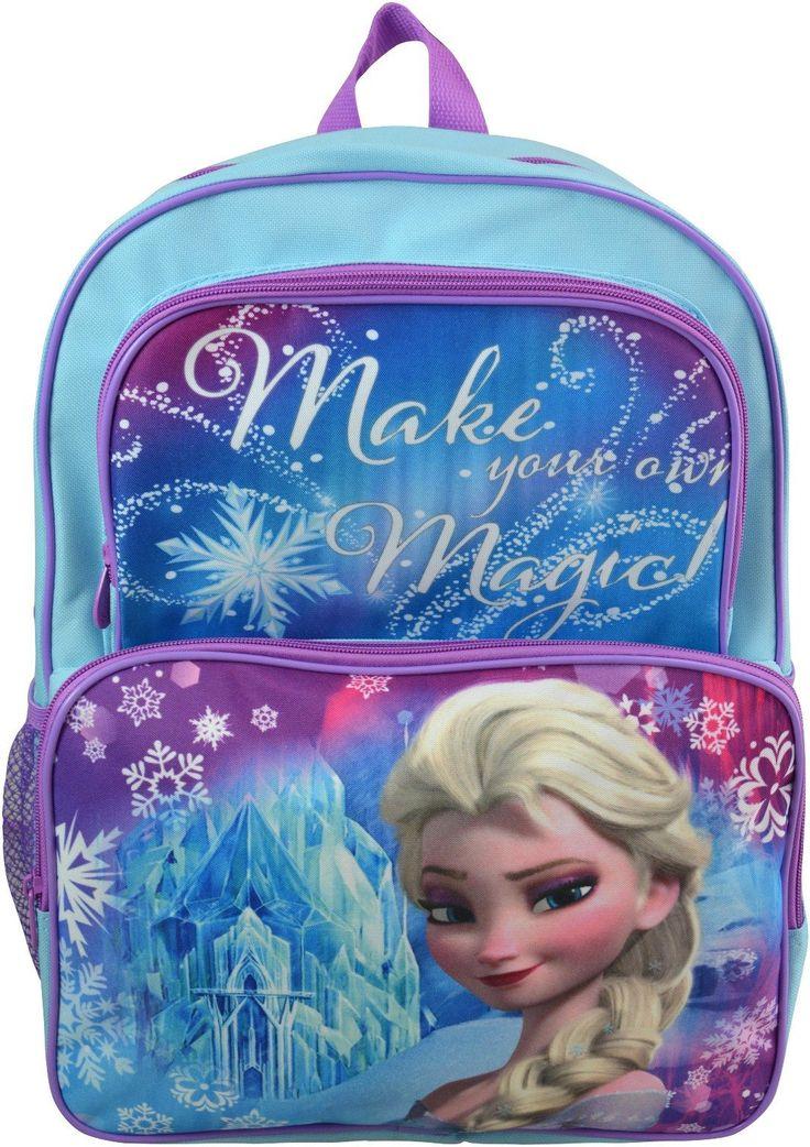 "Wholesale Backpacks Frozen Elsa 16"" Cargo Backpacks - 48 Units"