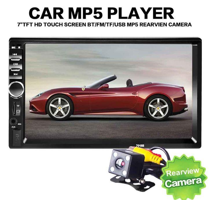 Bluetooth V2.0 7 Inch 2 DIN Audio Mobil Stereo Player 7018B Hands-free panggilan Layar Sentuh MP5 Player Mobil TF SD MMC USB FM Radio