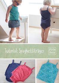 Tutorial Spaghettiträger zu #Klimperklein Shirt und Body