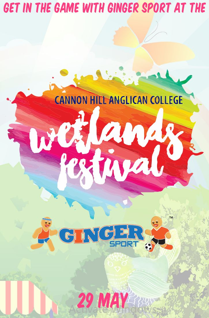 Get in the game with Ginger Sport at the Wetlands Festival, 29 May!