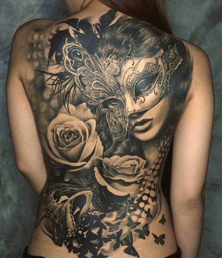rose tattoos back