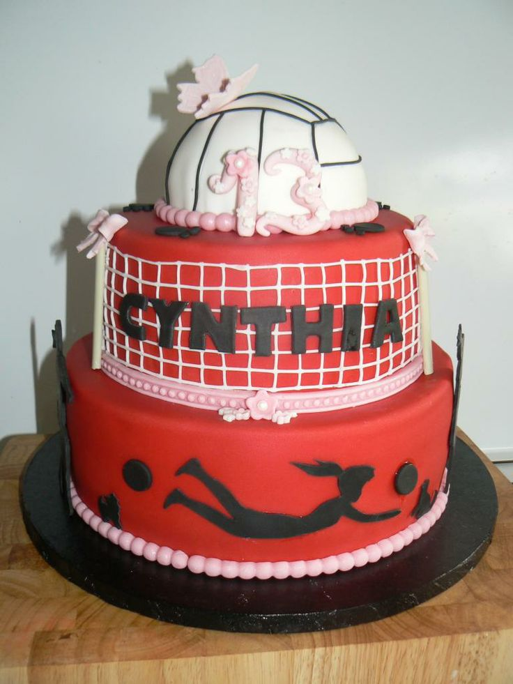 Volleyball cake @tonicorrell5