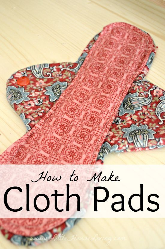 Step by step instructions on how to sew your own cloth pads. Great for your body and a good way to save money!
