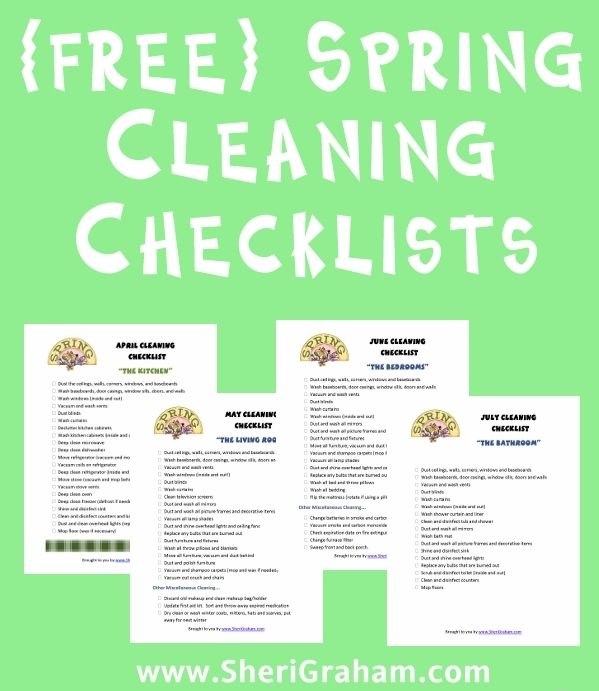 17 best images about homemaking printables on pinterest What month is spring cleaning