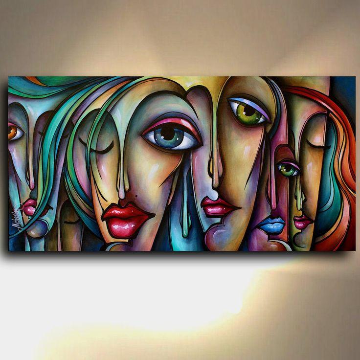 Pintura giclee impresión de la Lona Original De Michael Lang Arte urbano contemporáneo | eBay
