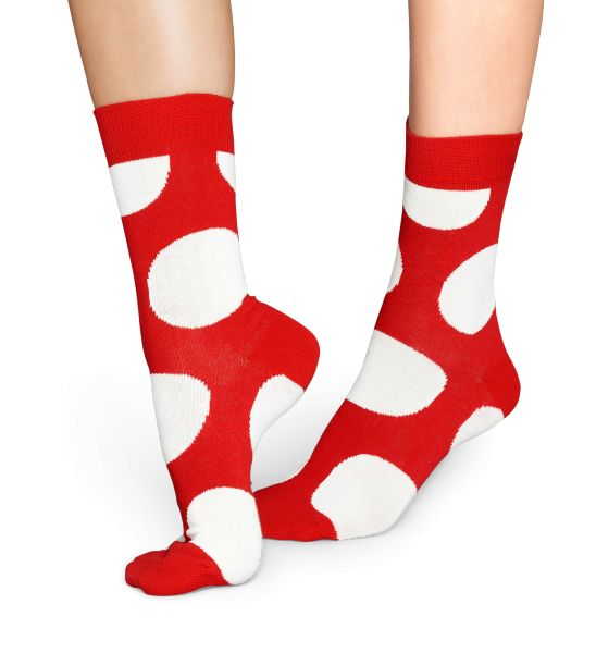 Cool Red Socks with Jumbo White Dots for Happy Women and Men at Happy Socks