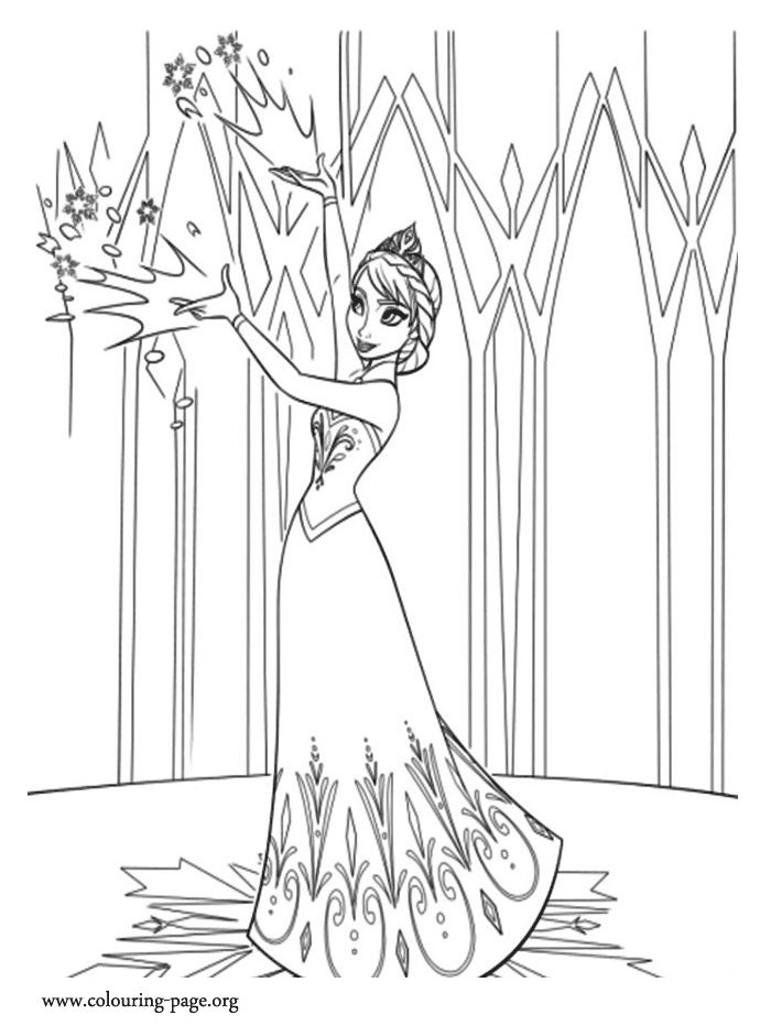 Funny Disney Frozen Coloring Pages