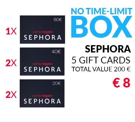 SEPHORA GIFT CARD X 5 - WIN or 100%Cashback!!!