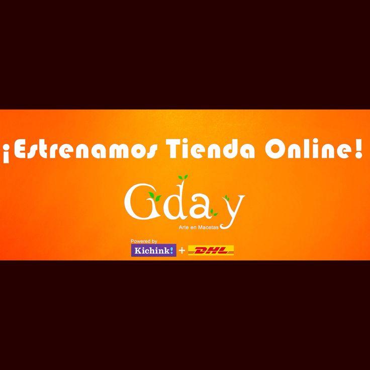 Estenanos tienda online!!! Conoce nuestros articulos, promociones y descuentos en la fanpage del facebook o entrando a www.kichink.com/stores/macetasgday